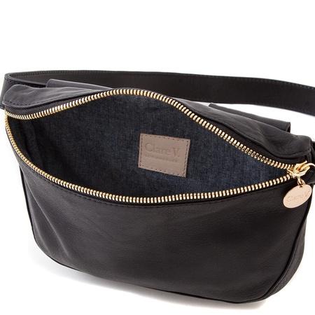 Clare V Fanny Pack - Black Velvet Leather