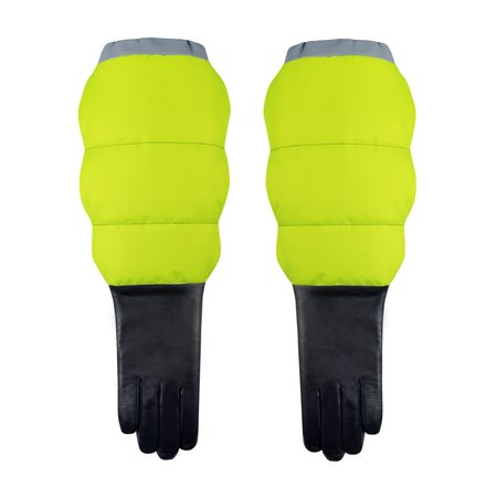 Aristide Puffer Gloves With Touchscreen Technology - Neon
