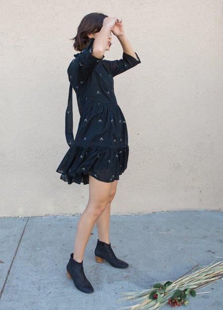 Mirth Napa Mini Dress - Black Jamdani