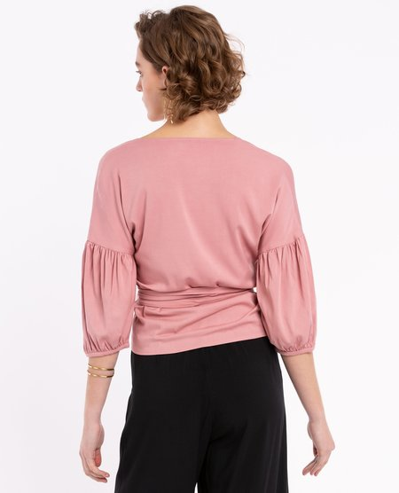 Sitting Pretty Ivy Blouse - Dusty Pink