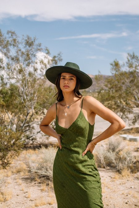 Lacausa Moonstone Slip Dress - Moss