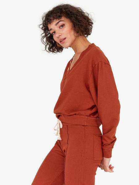 Mate the Label Dylan Sweater - Rust