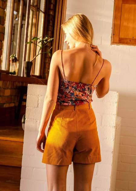 Penny Sage Dreyfus shorts - saffron