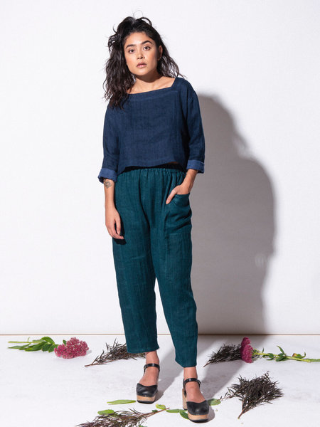 marty jean Linen/Wool Uniform Pant