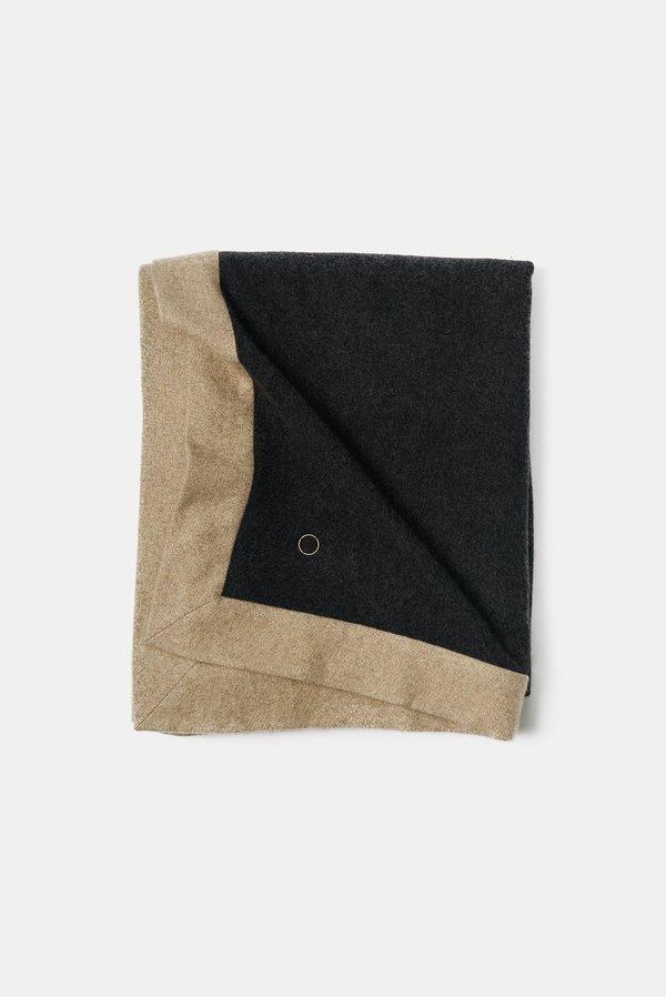 Oyuna Etra Heavyweight Timeless Luxury Cashmere Throw - CharcoalMelange Taupe