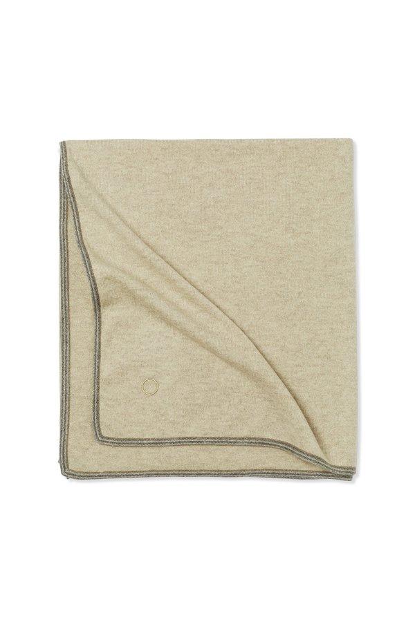 Oyuna Toscani Versatile Framed Cashmere Throw - Beige
