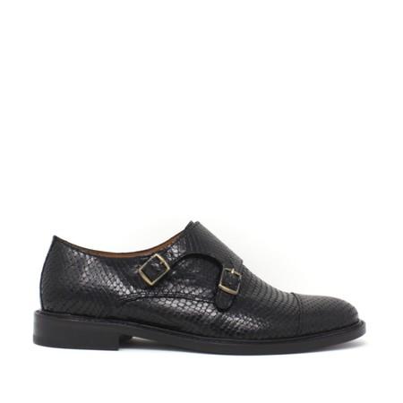 Anthology Paris Monk Strap Shoes - Black