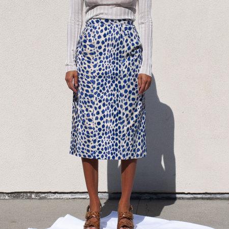 Maryam Nassir Zadeh Gotham Skirt in Coating Sapphire