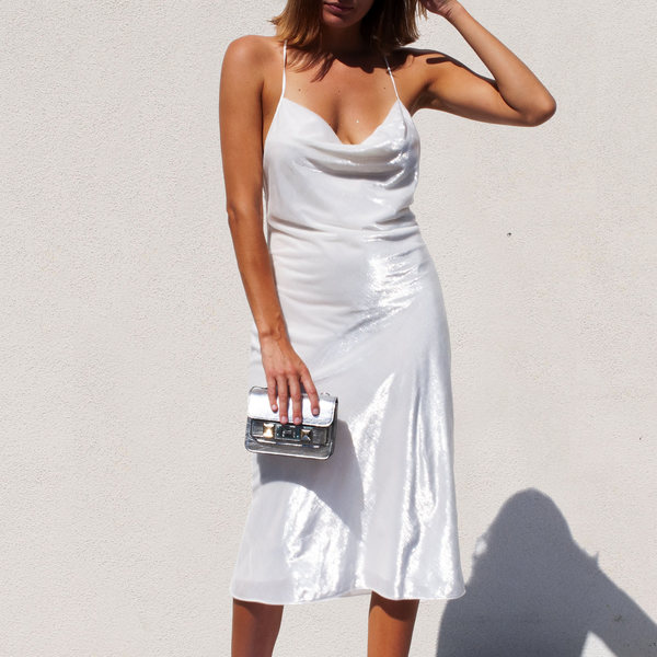 Priscavera High Gloss Slip Dress