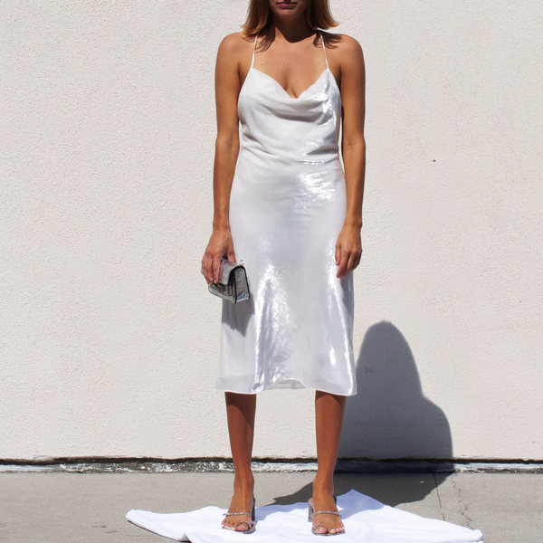 Priscavera High Gloss Slip Dress