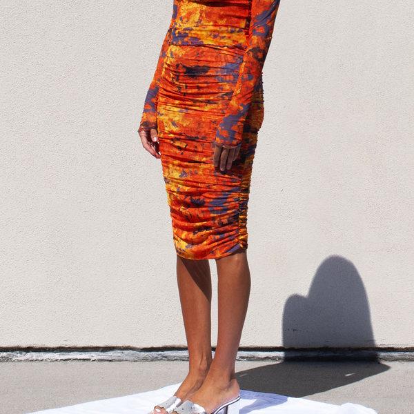 Priscavera Gathered Mesh Skirt With Briefs
