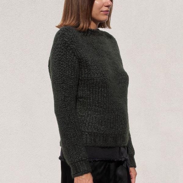 Priscavera Mock Neck Ribbed Sweater