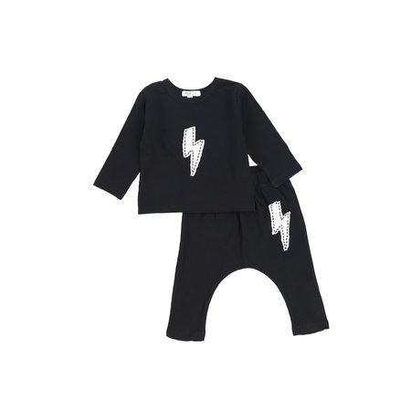 Kids Joah Love Bolt PJ Set - Black