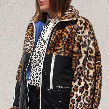 Sandy Liang Dean Fleece in Leopard