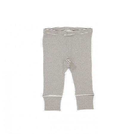 Kids Caramel Krotos Legging - Oyster Stripe