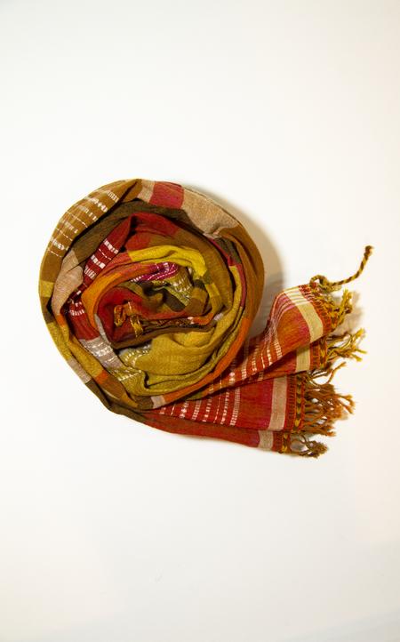 Chelna Desai Cotton Wool Clock Scarf