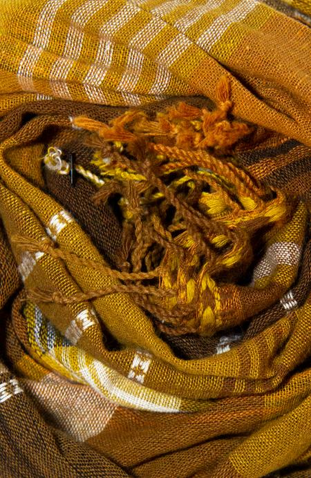 Chelna Desai Kala Cotton Scarf - Golden Plaid