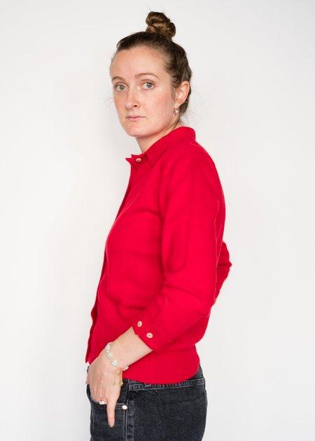 Jumper 1234 Button Cuff Cardigan - RED