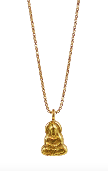 Lulu Designs Buddha Necklace - Yellow Bronze