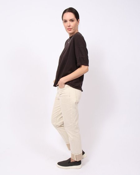 Oat Hi-Rise Straight Leg Jean - Natural