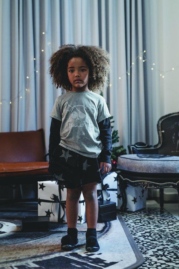Kids Nununu Layered Tulle Star Skirt - Black