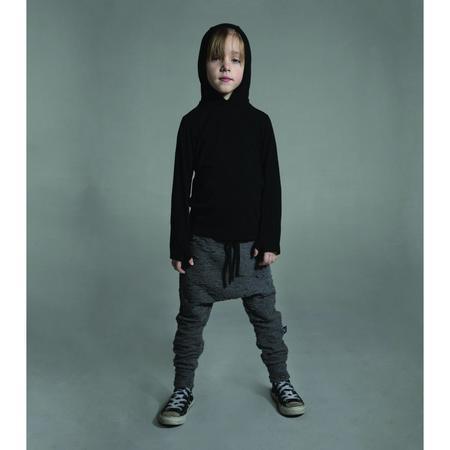 kids nununu ninja hoodie - black