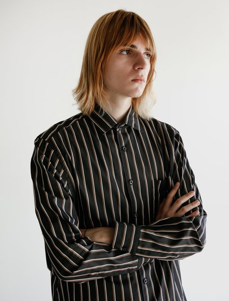 Cobra SC Angelo Shirt - Black/Rust Stripe