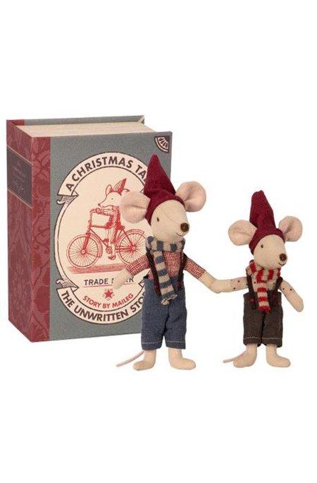 Kids Maileg Christmas Mice In Book