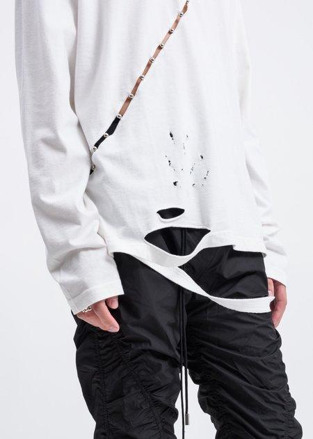 Hyein Seo Slashed Long Sleeve Tee - White