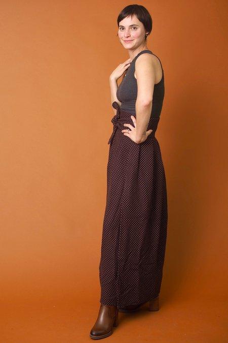 Field Day Maxi Wrap Skirt - Brown Dot
