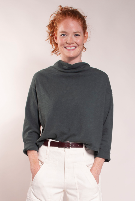 Built by Wendy Cowlneck Slouch Tee - Loden