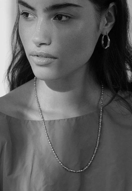 BRIE LEON Mini Bambú Necklace - silver