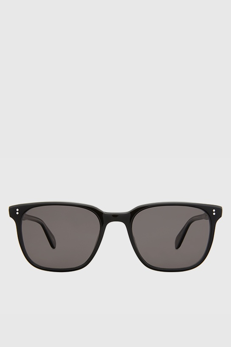 Garrett Leight Emperor Sun 52 Sunglasses - Black Laminate Crystal/Black Polar