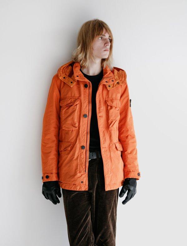 Stone Island Garment Dyed Insulated Parka - Orange