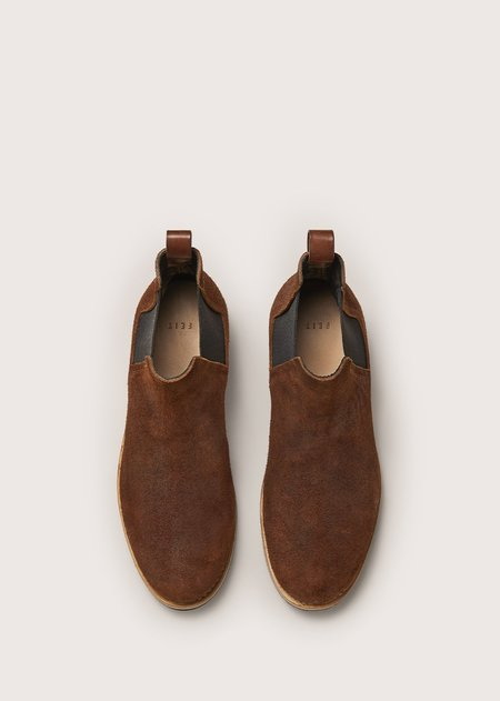 FEIT CHELSEA RUBBER BOOT - BROWN