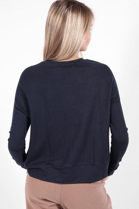 Corinne Max Box Sweater - Navy