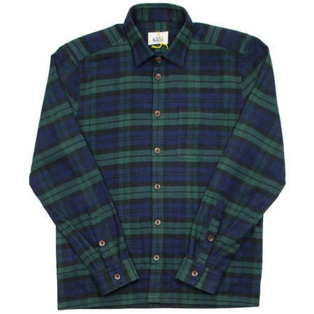 BD Baggies Blouse Flannel Check Shirt - Navy/Green