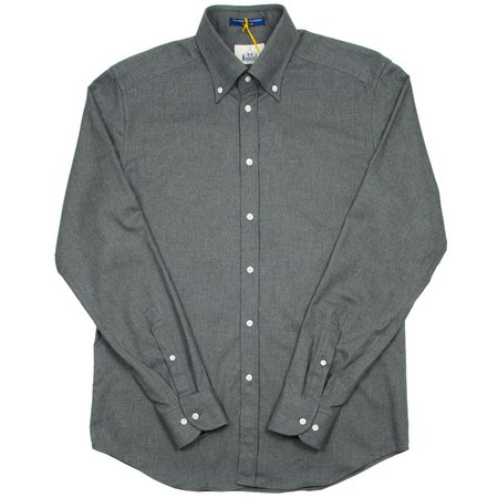 BD Baggies Bradford Button Down Flannel Shirt - Dark Grey