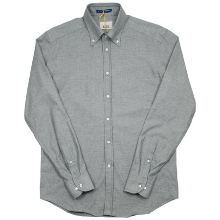 BD Baggies Bradford Button Down Shirt - Flannel Light Grey
