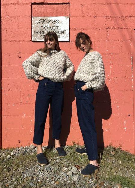 I love Mr Mittens Cropped Crew Neck Wool Sweater - Tornado White