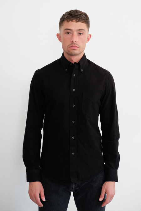 Gitman Bros. Exclusive Black on Black Flannel Shirt