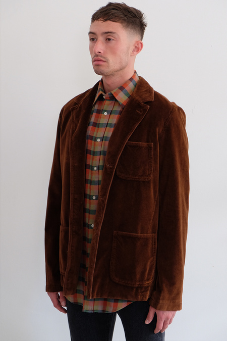 massimo alba Baglietto Velvet Jacket - Rust