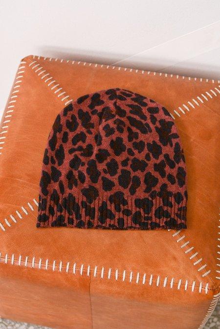 27 Miles Malibu Cashmere Leopard Beanie - Toffee