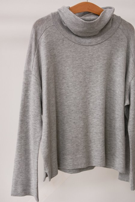 Beautiful People Jersey Cowl Neck Pullover - Grey