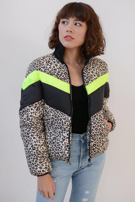 Central Park West Wesley Printed Puffer Coat - Leopard