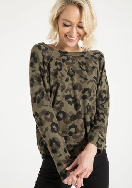 Central Park West Montreal Sweatshirt - Army Leopard