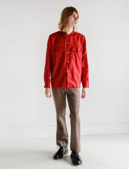 Lemaire Bootcut Pants - Khaki Brown