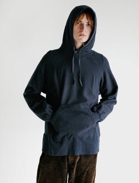 Engineered Garments Cotton Fleece Hooded Sweatshirt - Navy