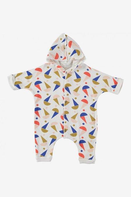 Kids Picnik Hooded Romper - Geometry