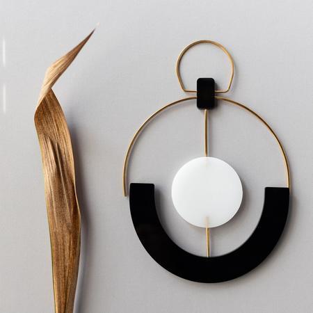 HYworks Hand Cut Brass/Acrylic Wall Hanging
